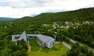 Sámi Parliament of Norway - Aerial photo of the parliament