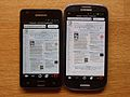 Samsung Galaxy S3 - Galaxy S2 screen and size comparison.jpg