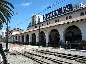 Downtown San Diego - The Santa Fe Depot, built in 1915