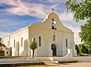 Presidio Chapel of San Elizario - The front of the chapel