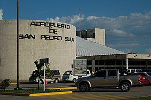 Ramón Villeda Morales International Airport - Outside the airport.