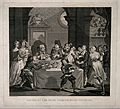 Sancho Panza (Don Quixote's squire) being starved, for healt Wellcome V0016125.jpg