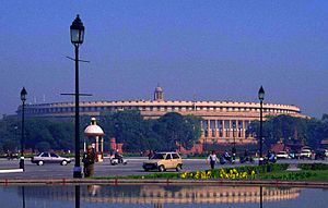 Parlamento de la india wikipedia la enciclopedia libre for Parlamento wikipedia