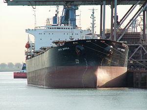 Santa Markela - IMO 8811792 - Callsign A8IB7, Port of Rotterdam, Holland 19-Nov-2005.jpg
