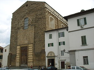Santa Maria del Carmine, Florence - The unfinished façade.