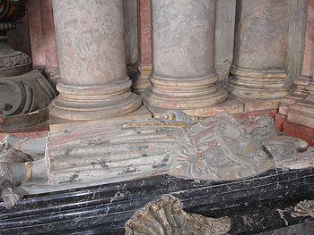 Sarcophagus of Duke Bolko I in the Princely Chapel of the Grüssau Monastery