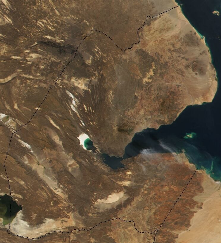 Satellite image of Djibouti in November 2001