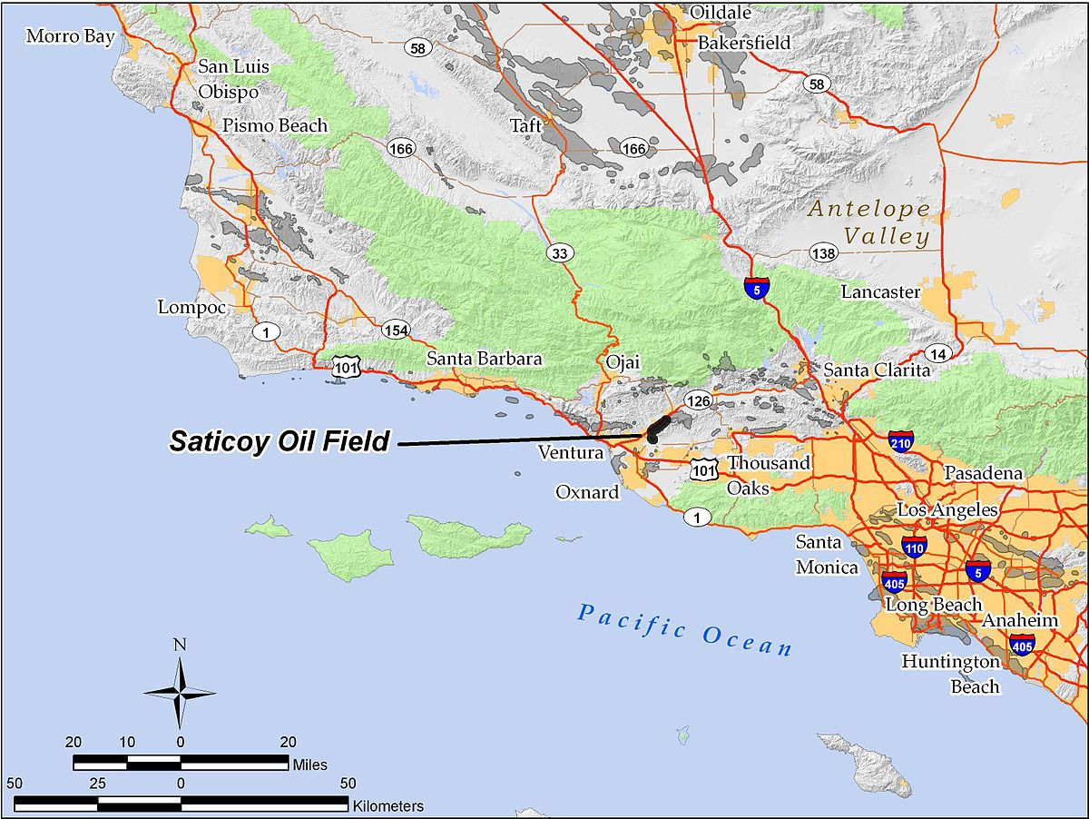 Saticoy Oil Field Wikipedia - Map us oil fields