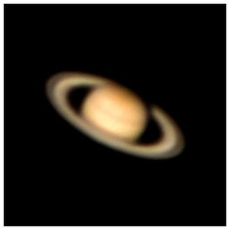 Hamburg Observatory - Saturn through the Lippert telescope in 2005 (CC 2.0 License)