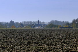 A general view of Savigné-sous-le-Lude