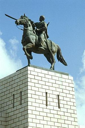 Mohammed Abdullah Hassan - Statue of Sayyid Mohammed Abdullah Hassan in Mogadishu, Somalia