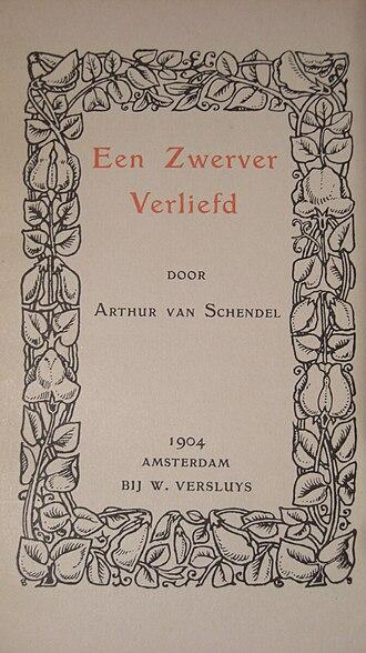 Arthur van Schendel - Title page of Een zwerver verliefd