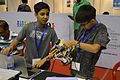 School Students Preparing Their Robot - Indian National Championship - WRO - Kolkata 2016-10-22 1101.JPG