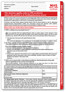 graphic relating to Printable Dnr Form known as Do not resuscitate - Wikipedia