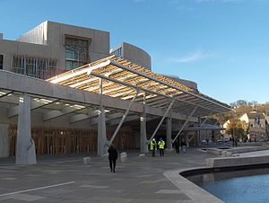Scottish Parliament frontal view