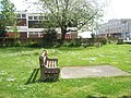 Seat in the churchyard at St George the Martyr, Waterlooville - geograph.org.uk - 1307728.jpg