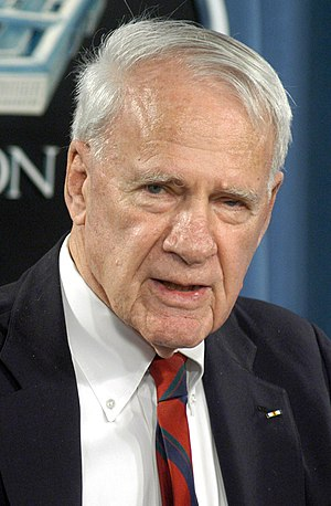 James R. Schlesinger - Schlesinger at the Pentagon in 2004, as Chairman of the Independent Panel to Review Department of Defense Detention Operations