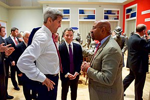 Michael Nutter - Mayor Nutter speaks with Secretary of State John Kerry.