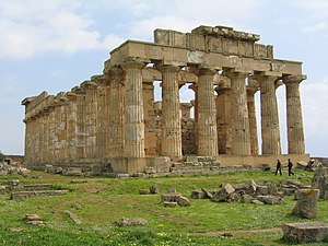 Southern Italy - Greek temple of Hera, Selinunte, Sicily.