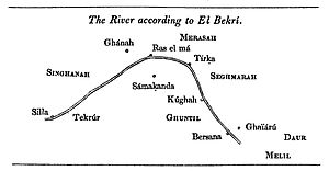 Senegal River - Western Nile (Senegal-Niger River) according to al-Bakri (1068)