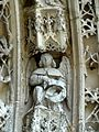 Serans (60), église Saint-Denis, portail, ange musicien de l'archivolte 6.jpg
