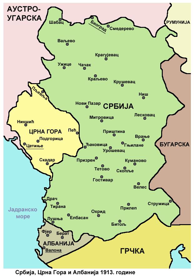 Serbia montenegro albania1913 02