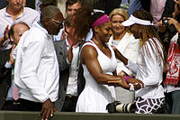Richard williams seen with his daughters shortly after serena williams