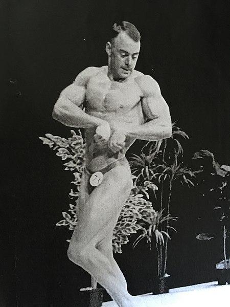 Serge Brugeau lors du concours Monsieur Poitou 1989