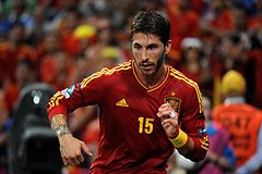 722c1cdabb4 Ramos at the Euro 2012, in a quarter-final match against France.