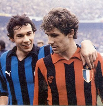 Derby della Madonnina - Brothers Giuseppe and Franco Baresi in the 1979–80 derby.