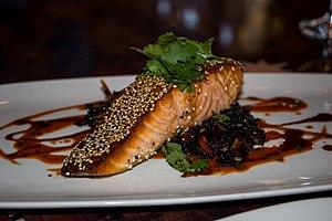 Sesame Soy Glazed Skuna Bay Salmon