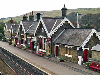 Settle railway station Railway station in North Yorkshire, England