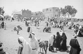 Shahrbanu - Muslim pilgrims to the Shrine of Imam Hussein, April 1943, Ashkelon, Palestine.
