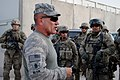 Sgt. Maj. Ralph Beam talks to soldiers of B Co, 3-4th Infantry after a combat patrol.jpg