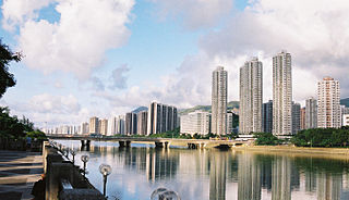 Sha Tin neighbourhood in New Territories, Hong Kong, China