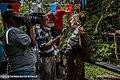 Sharon Matola interviewed at Junior Buddy's 5th Birthday Celebration at The Belize Zoo, 2012-02-21.jpg