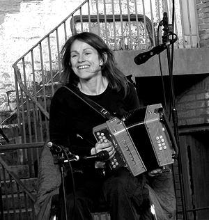 Sharon Shannon - Shannon playing the accordion