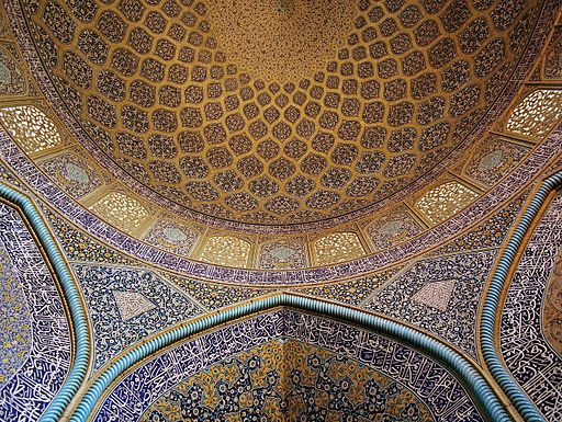 Sheikh-Lotf-Allah mosque wall and ceiling 2