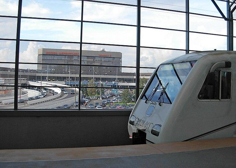 Transporte do aeroporto para centro de Moscou