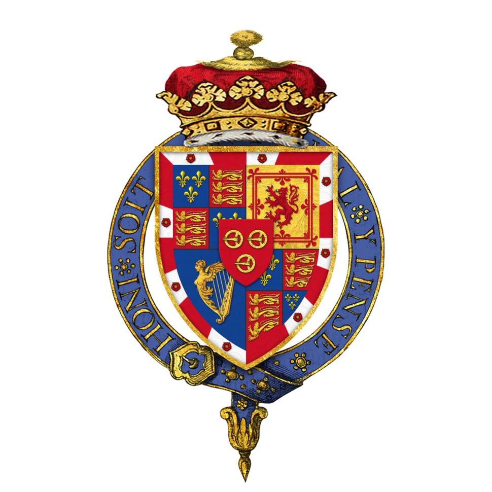 Shield of arms of Charles Gordon-Lennox, 6th Duke of Richmond, KG, PC
