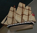 Ship model Stavern church.JPG