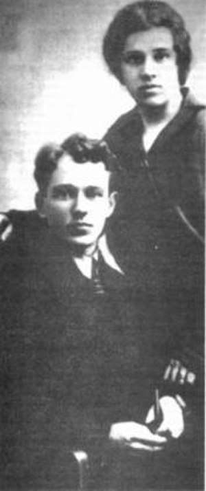Mikhail Sholokhov - Mikhail Sholokhov and his wife, 1924