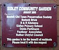 Sidley Community Garden plaque, Buxton Drive, Bexhill.jpg