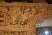 Siedlęcin Wieża Książęca Gotyckie malowidła ścienne Porwanie Ginewry przez Meleaganta.JPG