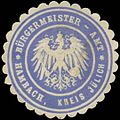 Siegelmarke Bürgermeister-Amt Hambach Kreis Jülich W0383054.jpg