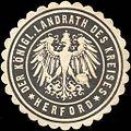 Siegelmarke Der Königliche - Landrath des Kreises Herford W0209167.jpg
