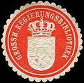 Siegelmarke Grossh. Regierungsbibliothek W0301734.jpg