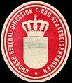 Siegelmarke Grossherzogliche General - Direction der Badischen Staatseisenbahnen W0214827.jpg