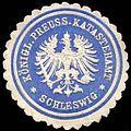 Siegelmarke Königlich Preussisches Katasteramt - Schleswig W0234842.jpg