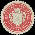 Siegelmarke Magistrat der Stadt Lessen W0327798.jpg